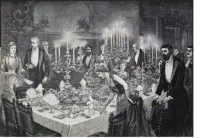 Victorian Dinner Table