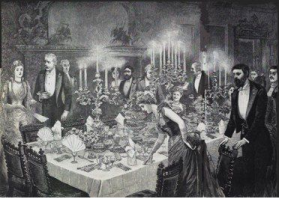 Victorian Dinner Table