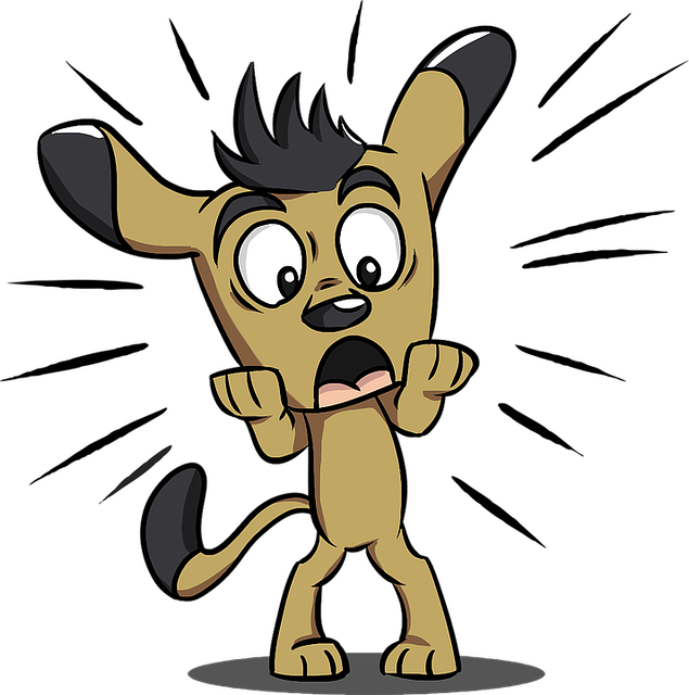 Shocked dog animated