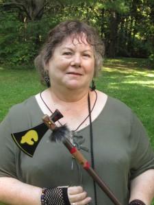 Author Lynne Collier in Elf costume 2018 media shot