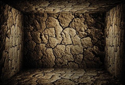 A dark cave representing depression