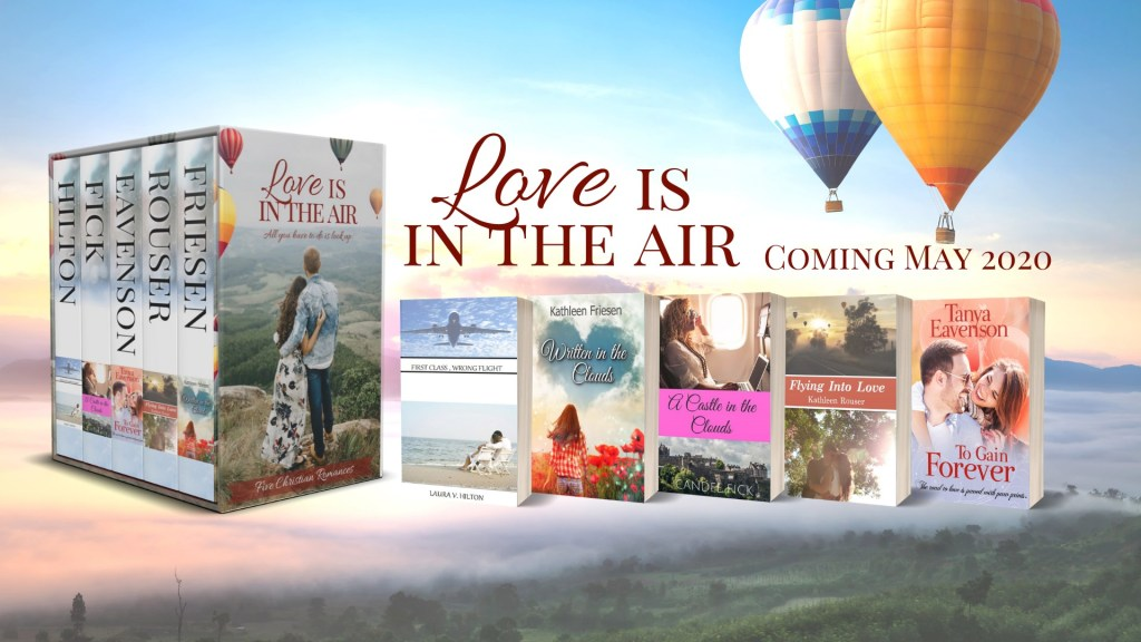 """Love Is In The Air"" is a collection of 5 romance stories by Kathleen Friesen."